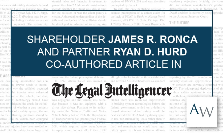 Ronca Hurd Legal Intelligencer