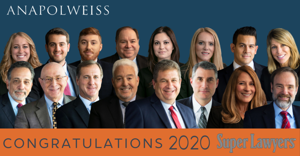 Anapol Weiss 2020 Super Lawyers