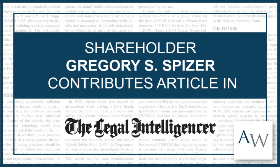 Gregory Spizer Legal Intelligencer