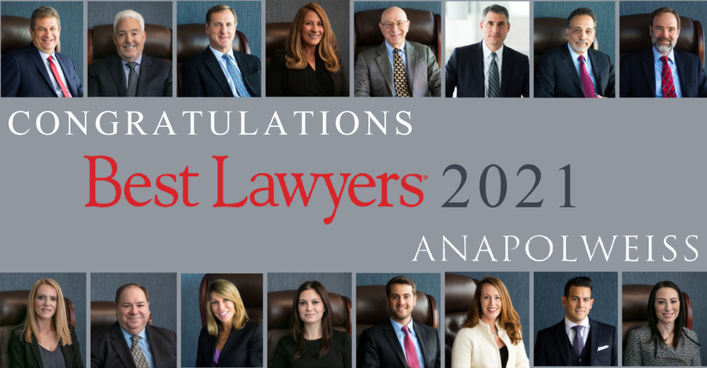 Best  Of 2021 Anapol Weiss Best Lawyers 2021